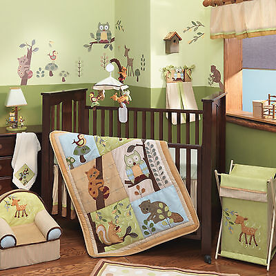 Lambs & Ivy Enchanted Forest 5-Piece Crib Bedding Set