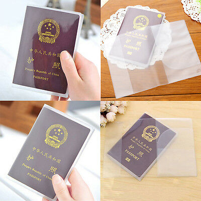 Reise Passhülle Pass Hülle Etui Passport Cover Holder Transparent für 18,5x13 cm