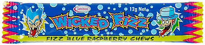 Bulk Lot 30 x Wicked Fizz Chews Blue Raspberry Candy Sweets Lollies Party Favors