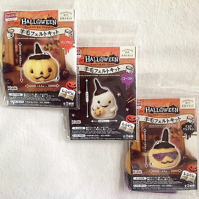DAISO Japan Halloween Wool Felting Kit Complete 3 Piece Set • Fast Airmail