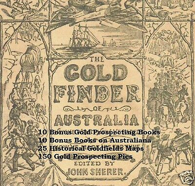 CD - Gold Finder in Australia - 21 eBooks + 25 Maps + 150 Pics (Re-Sell)