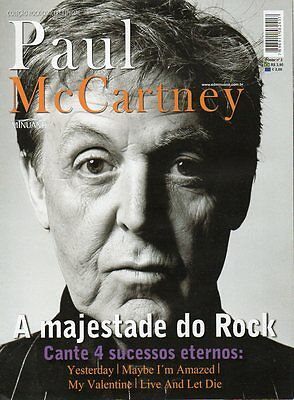 HUGE PAUL MCCARTNEY POSTER MAGAZINE = 8 pages 51 x 82cm Fold-out poster beatles