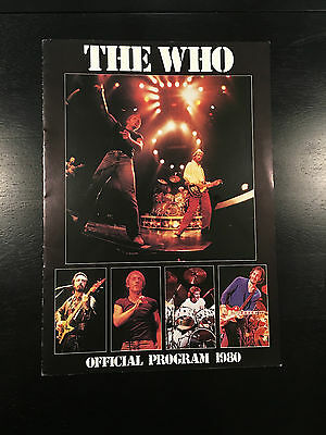 The Who 1980 Who Are Your Tour Concert Program Book Tags: Rolling Stones