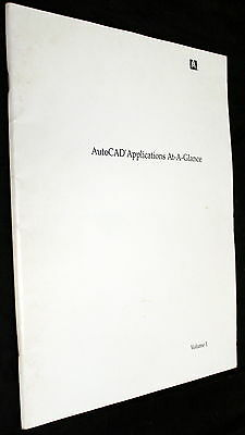 AutoCAD APPLICATIONS AT-A-GLANCE VOLUME 1 BOOK!!