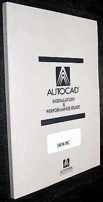 AutoCAD DRAFTING PACK INSTALLATION & PERFORMANCE GUIDE IBM PC 1988 TDIBMIG002.00