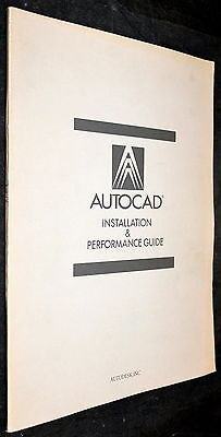 AutoCAD DRAFTING PACKAGE NEC APC III MS-DOS INSTALLATION & PERFORMANCE GUIDE!!