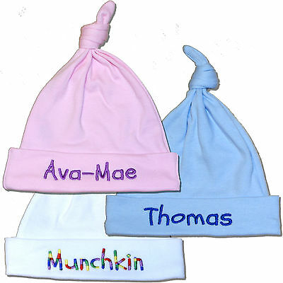 New Baby Hat Personalised Gift for Baby Boy or Girl Christening Baby Shower