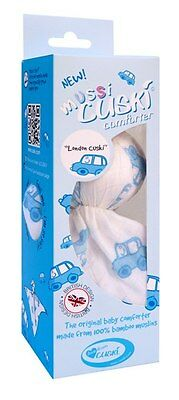 Cuski Mussi London Cab  - Baby Comforter/Security Blanket - Blue and White