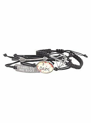 New Walking Dead Daryl Dixon 4 Pack Bracelet Crossbow Charm Officially Licensed