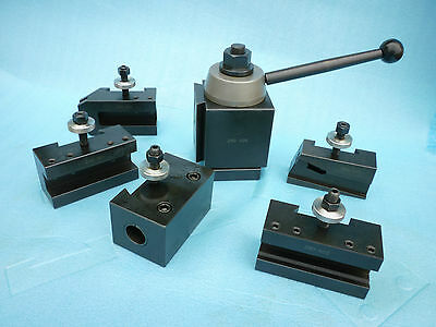 "6pcs/set Quick Change Tool Post, good for 9"" & 10"" Lathe Swing, Brand New."