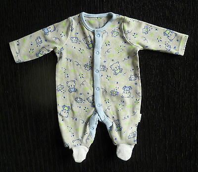 Baby clothes BOY premature/tiny<5lbs/2.3kg grey,green,blue bear babygrow C SHOP