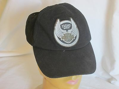 Harley Davidson 105th anniversary Ball Cap 96948-08V Black Silver Collectabler