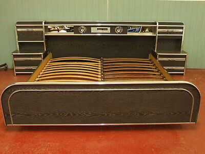 Very large (super kingsize), 1980s entertainment bed vintage retro mid-century