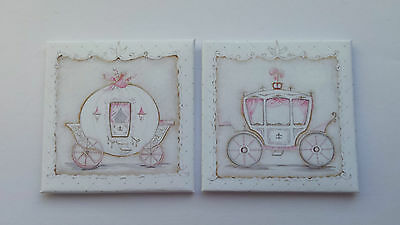 Handmade Miniature Dolls House Accessory Canvas Style Picture Girls Nursery #2
