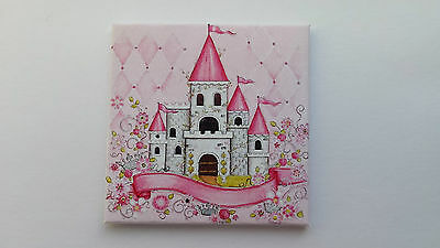 Handmade Miniature Dolls House Accessory Canvas Style Picture Girls Nursery #1
