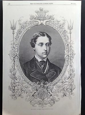 His Royal Highness The Prince Of Wales Antique Print 1862