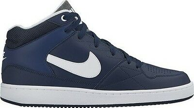 Nike Men's Priority Mid Footwear Basketball  Navy/White Leather Trainers
