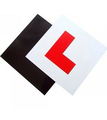 PACK OF 2  Fully MAGNETIC SECURE LEARNER DRIVER L PLATES EXTERIOR CAR BIKE