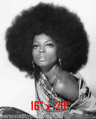 """Diana Ross~Supremes~Motown~Photo~Afro~Hair Salon~Black Int~ Poster 16"""" x  20"""""""