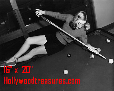 "Evelyn Keyes~Shooting Pool~Playing Pool~Billiards~16"" x 20""~Poster~ Photo"