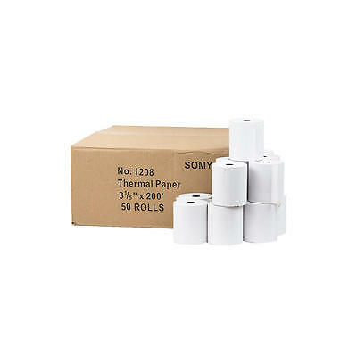 "3-1/8"" x 225' Thermal Paper 50 Rolls for POS and Cash Register Commercial"