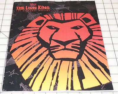 Souvenir Brochure For The Lion King The Broadway Musical