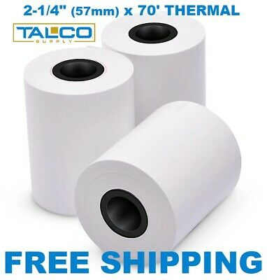 "2-1/4"" x 70' CREDIT CARD THERMAL RECEIPT PAPER - 50 ROLLS *FREE SHIPPING*"