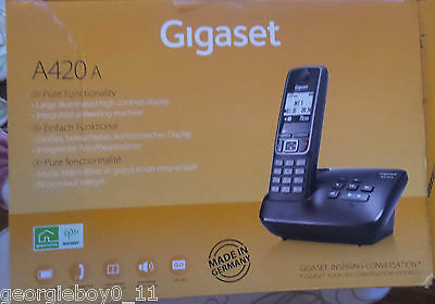 A420A Gigaset cordless phone with answering machine Black
