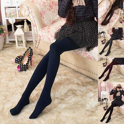 Women Thick Warm Autumn Winter Stockings Plain Color Tights Pantyhose Hosiery