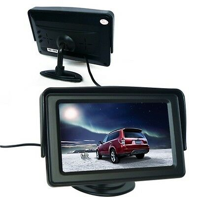 """4.3"""" TFT LCD Car Reverse Rear View Color Security Monitor DVD VCR For Camera CA"""