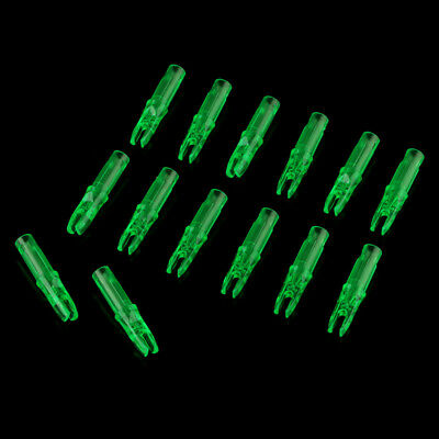 20pcs Plastic Spare Nocks 6.2mm Hunting Target Archery Arrow Nocks Green
