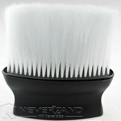 Nackenwedel Nackenpinsel Neck brush Friseurpinsel Salon Stylist Barber Schwarz