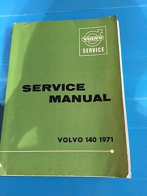Volvo  140 144 145  Factory Workshop Service Manual  1971