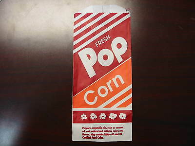 "Popcorn Bags New Case of  1000 8"" 1oz  Most Common Bag"