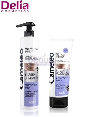 Delia Cameleo Professional Silver Purple Toning Shampoo,conditioner Grey Hair