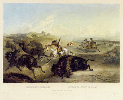 Interior of the Hut of a Chief 15x22 Karl Bodmer Native American Indian Art