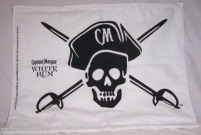 New Large CAPTAIN MORGAN WHITE RUM Pirate FLAG White & Black
