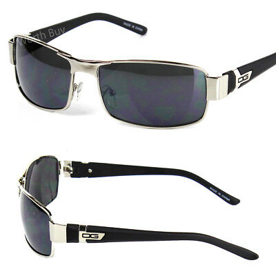 New DG Eyewear Mens Rectangular Sunglasses Shades Fashion Designer Black Retro