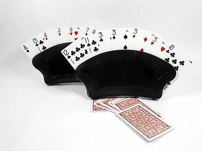 Free Standing Playing Card Holder Fan Canasta Hand Set of 2 Poker FREE SHIPPING
