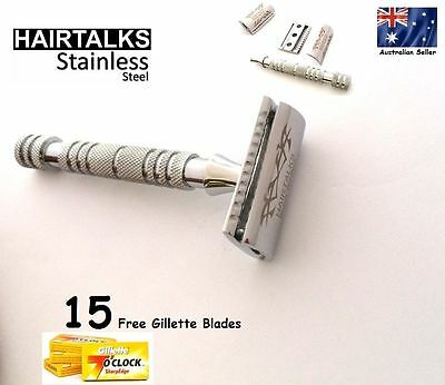 HairTalks Men Safety Razor Shaver 15 Double Edged Blades Premium Quality
