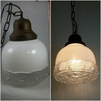 Vintage Art Deco Pendant Light Fixture Kitchen Bathroom Chandelier Old Floral