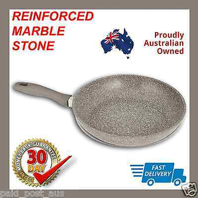 NEW Reinforced STONE MARBLE COATED FRYPAN Cookware Non Stick FryPan Induction
