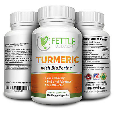 Tumeric Curcumin Turmeric Supplements Capsules 1300mg 2 Month Supply Tumerics