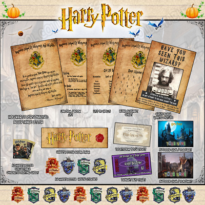 Harry Potter PERSONALISED Gift Set  Hogwarts Acceptance Letter+* Ultimate Pack *