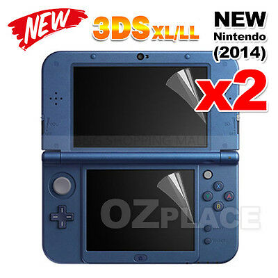 2x For New Nintendo 3DS XL Screen Protector LL LCD Cover 2in1 Set Top Bottom