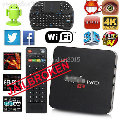 Smart Pro TV BOX S905 Quad Core Android 5.1 WIFI Full HD 1080P WIFI 4K Keyboard