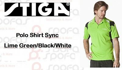 NICE PRICE Stiga Funktionsfaser Polo Sync lime green - neu -