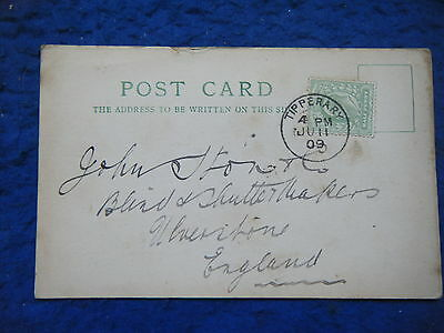 Tipperary, Re Shutters - Scarce 1909 Correspondence Postcard!
