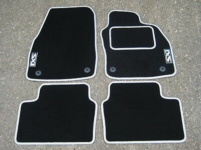 "Car Mats in Black/Silver to fit Vauxhall Astra Mk5 (04-09) + Silver ""SXi"" Logos"