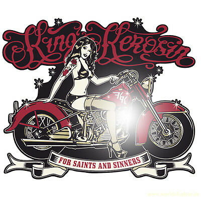 King Kerosin For Saints 15cm Aufkleber Sticker Oldschool Chopper Biker Bobber V2